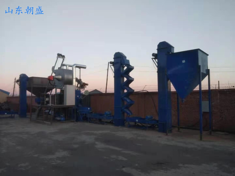 辽宁zs-300型燃气加热覆膜砂成套设备试生产顺利进行